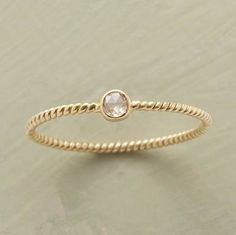Alternative Engagement Rings / simple and gold