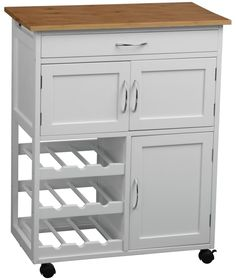 Buy Kitchen Trolley with Bamboo Top - White at Argos.co.uk - Your Online Shop for Kitchen trolleys.