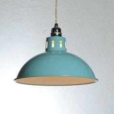 Vintage Style Factory Pendant Light Notonthehighstreet Lamp for hallway Industrial Pendant Lights, Pendant Lamp, Pendant Lighting, Light Pendant, Pendant Set, Loft Lighting, Retro Lighting, Kitchen Lighting, Lighting Ideas