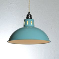 vintage style factory pendant light by artifact lighting | notonthehighstreet.com - something like this over sink or background workspace in craft scenario