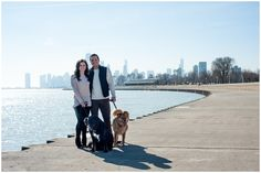 Tamara Jaros Photography 2016 Engagement Photography in Chicago What to Wear Engement session with Dogs Winter Engagement Session