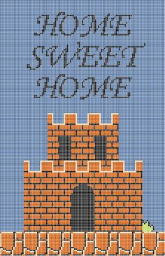 Super Mario Bros Home Sweet Home Cross Stitch Pattern | Flickr - Photo Sharing!