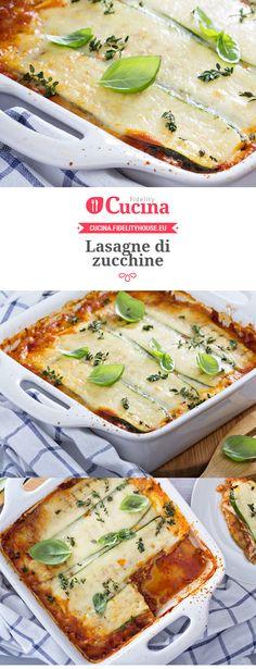 Le #lasagne di #zucchine sono un secondo piatto originale e sfizioso. Una valida alternativa alla carne ed al pesce.