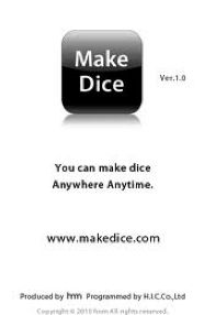 The app does just what it sounds like. Let's you write on the sides of a die and then just press a button or shake the ipad to roll them. You can make dice for anything!