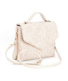 Deux Lux Bleecker Small Messenger: A cream-colored handbag you can pull off all year round.
