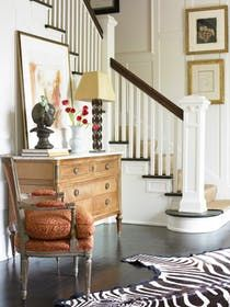 Foyer Eclectic Transitional by Carter Kay Interiors
