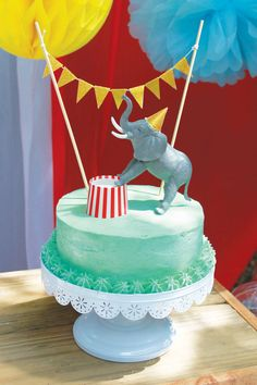 Carnival or circus themed Birthday cake for less then $10!! And more great tips for throwing a kids birthday party.