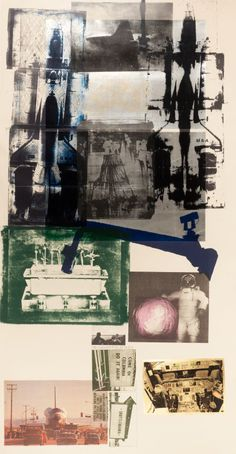 Post-War & Contemporary:Pop, ROBERT RAUSCHENBERG (American, 1925-2008). Hot Shot, 1983.Lithograph in colors with collage.
