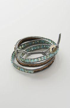 grey shimmering beads wrap bracelet from J.Jill