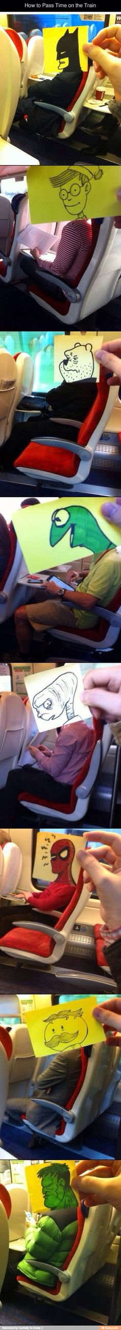 How to pass time on a train...well, if you're an artist and ride trains.....A LOT!!
