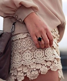 lace , I have to have this skirt. I going to start collecting vintage lace just to make this skirt.