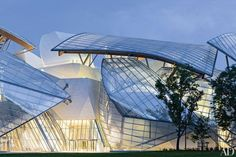 Frank Gehry's Masterful Fondation Louis Vuitton Opens in Paris - The nautically inspired Fondation Louis Vuitton arts center, devised by Gehry Partners for LVMH, opens in Paris's Bois de Boulogne park October 27.