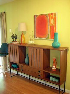 From my home, new art (to me) dictates a new arrangement and photo. Painting is by Jan Danziger, 1970.