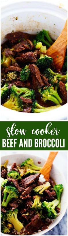 This Beef and Broccoli takes just minutes to throw in the slow cooker. The beef melts in your mouth and the flavor is out of this world! My top five favorite… Crock Pot Slow Cooker, Crock Pot Cooking, Slow Cooker Recipes, Crockpot Recipes, Cooking Kids, Cooking 101, Meat Recipes, Asian Recipes, Cooking Recipes