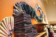 Anthropologie shop visual merchandising display installation,