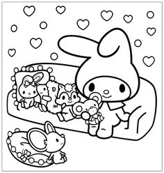 Cute Hello Kitty Kawaii Coloring