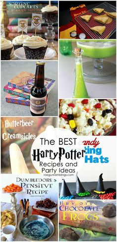 I've made a lot of these Harry Potter party food recipes and they are keepers! What a great ideas for a Harry Potter themed party. #harrypotter #party