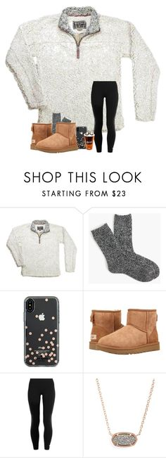 """""""love being home in Bama <3"""" by arieannahicks on Polyvore featuring J.Crew, Kate Spade, UGG, adidas and Kendra Scott"""