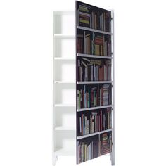 Bookshelf Wardrobe ($2,815) ❤ liked on Polyvore featuring home, furniture, storage & shelves, armoires, white wardrobe, white bookshelves, white book shelves, multi colored furniture and white bookshelf