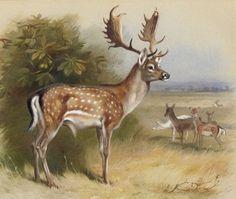 Cross Stitch Deer Woods