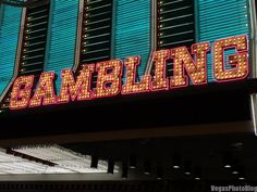Gambling Neon Sign - Vegas Photo Blog