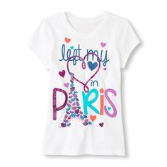 A graphic tee for the hopeless romantic! Girls Pjs, Kids Outfits Girls, Toddler Girl Outfits, Shirts For Girls, Kids Girls, Girls Sportswear, Girls Fashion Clothes, Kids Clothing, Sweat Shirt