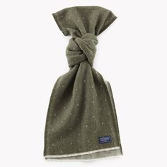 Dot Wool Scarf - Olive