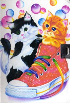 my first real encounter with Lisa Frank was this design. My mom had it on one of her notebooks when she was in college :]