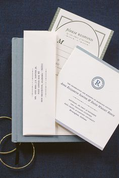 Navy and Gold Foil Stamped Wedding Invitations by Deliver Paper Studio / Oh So Beautiful Paper
