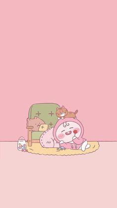 Cute Pastel Wallpaper, Mood Wallpaper, Kawaii Wallpaper, Pink Wallpaper, Lock Screen Wallpaper, Kakao Friends, Tumblr Stickers, Air Dry Clay, Cute Designs
