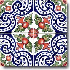 Spanish Decorative Tiles   Hand Painted Ceramic Decorative Tile: Spanish, Stylized Art of the ...