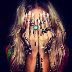 @PinFantasy - Bohemian hands and jewelry. ~~ For more: - ✯ http://www.pinterest.com/PinFantasy/lifestyles-~-bohemian-and-hippie/