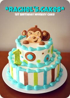 Taylor is having a monkeygirl party theme This cake would be