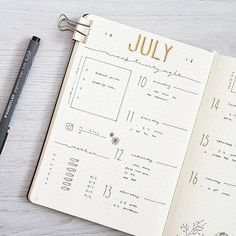 573 vind-ik-leuks, 5 reacties - joos | bullet journal newbie (@bu.joos) op Instagram: 'J U L Y // weekly My first weekly spread of this month. I haven't used my bullet journal last week…'