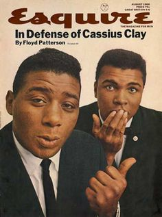 Muhammad Ali (then Cassius Clay) with Floyd Patterson - Esquire Magazine; Aug 1966