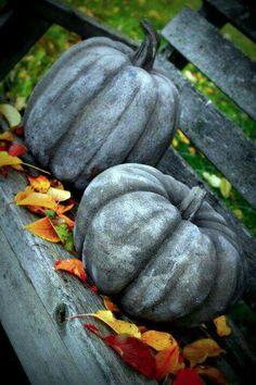 Concrete Garden Pumpkins ❤