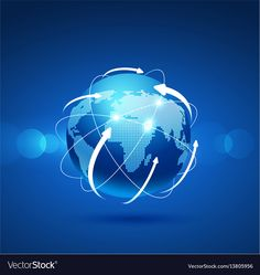 Globe network connection vector image on VectorStock Letter I Logo, Great Logos, Adobe Illustrator, Vector Free, Globe, Connection, Logo Design, Pdf, Internet