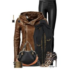Chic Leather Style, created by kginger on Polyvore
