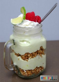 Healthy Key Lime Pie Breakfast Parfait with Kashi - #ad Oats Made Great