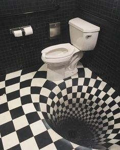 Design Discover Optical illusion toilet in bar rest room. Blink Of An Eye Op Art Optical Illusions Magic Illusions Funny Photos Interior Design Living Room Decoration Weird Sink Deco Restaurant, Blink Of An Eye, Illusion Art, Illusion Drawings, Auras, Op Art, Optical Illusions, Magic Illusions, Art Optical