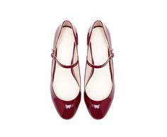 Zara  Red ballerina with ankle strap $50