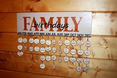 personalized customed name tag diy Family birthdays calendar - heart shaped tag, birthday sign