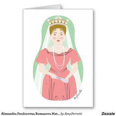 Alexandra Feodorovna Romanova Matryoshka Card