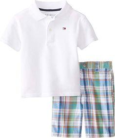51dfa4e2 Amazon.com: Tommy Hilfiger Baby Boys' Riley Set, White, 12 Months: Clothing
