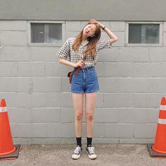 Korean Fashion K Daily K Fashion, Weird Fashion, Korea Fashion, Minimal Fashion, Daily Fashion, Fashion Outfits, Womens Fashion, Ulzzang Fashion Summer, Korean Fashion Summer
