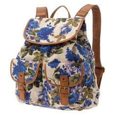 Never been a backpack gal, but this floral print Aldo Shoes backpack may just change that