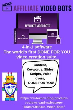 Affiliate Video Bots is a new, cloud-based software, that's. The world's first DONE FOR YOU video creation suite.even the voice over work. Marketing Software, Affiliate Marketing, Way To Make Money, Make Money Online, Motivational Posts, Bonsai Trees, Top Videos, Creative Skills, Made Video