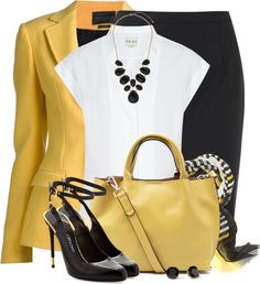 Business Outfits – Fall Black & Yellow