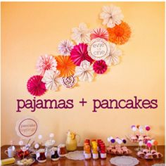 Bold Colored Pancake and Pajamas First Birthday Party