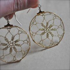 delicate crochet earrings